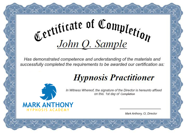 Hypnosis Certification Course